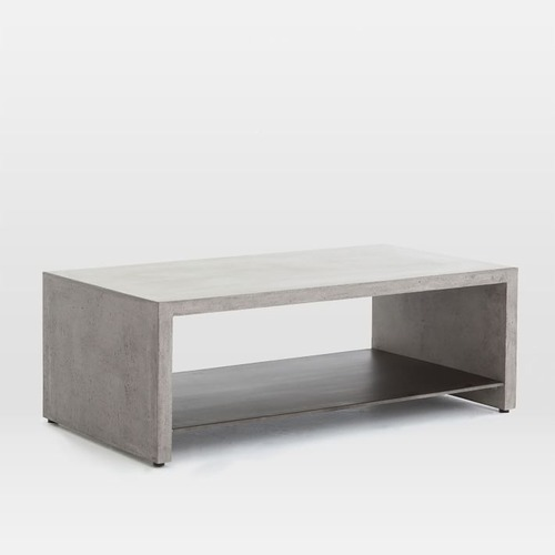 Used West Elm Industrial Concrete Coffee Table for sale on AptDeco