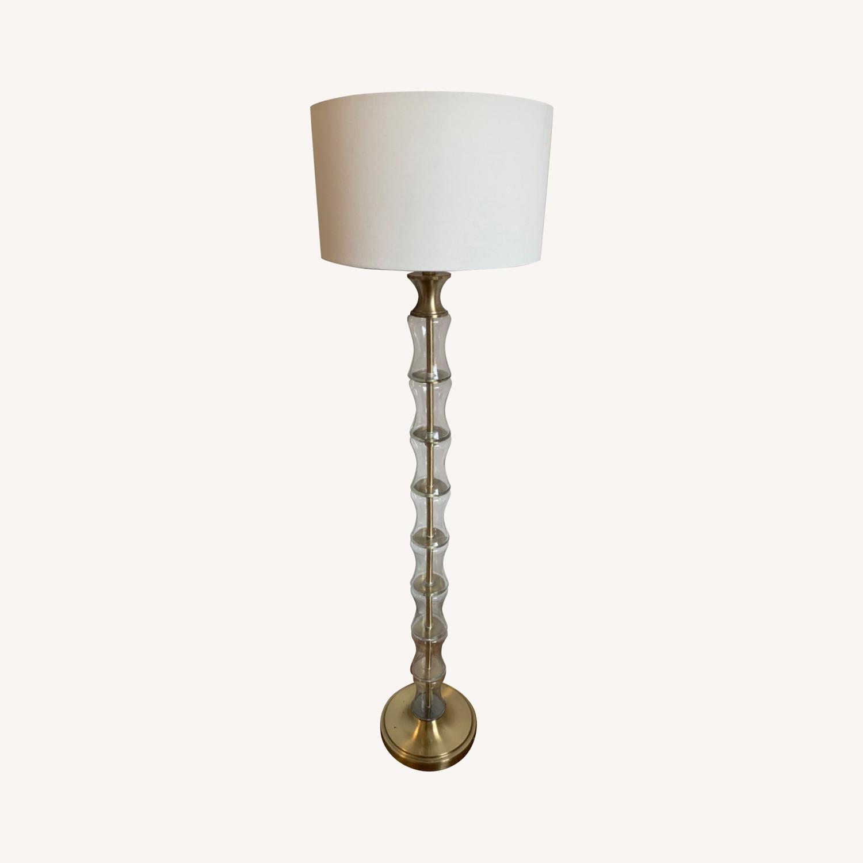 Gold Floor Lamp - image-0