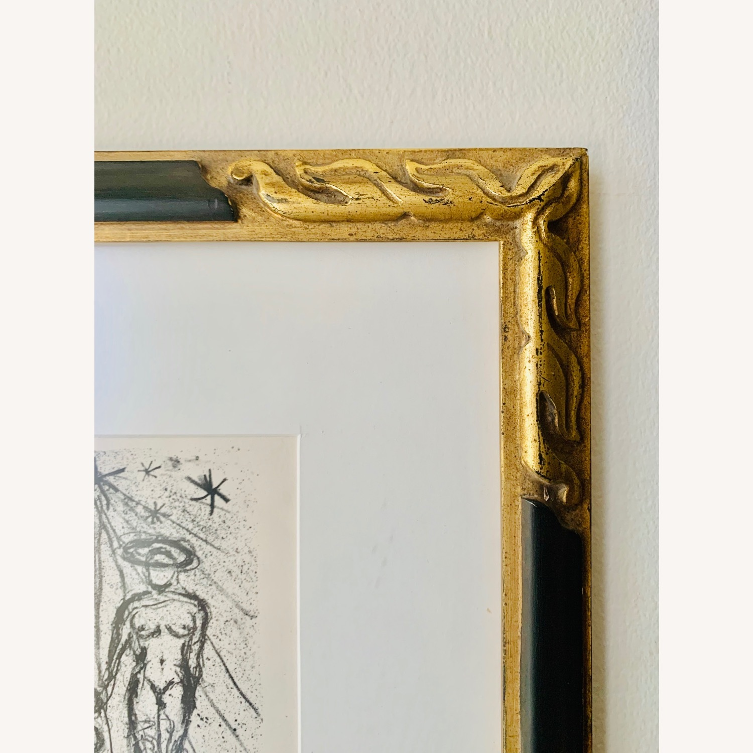 Vintage Triptych Abstract Drawings - image-1