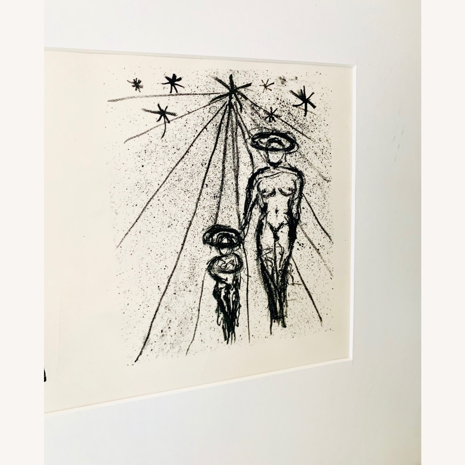 Vintage Triptych Abstract Drawings - image-3