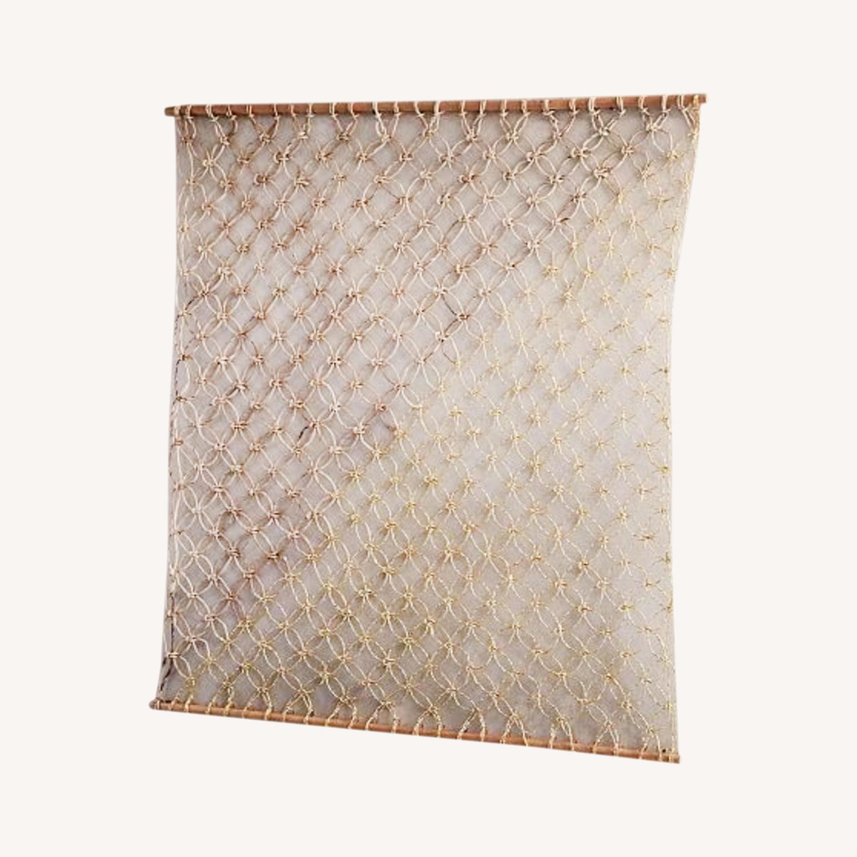West Elm Metallic Macrame Wall Hanging - image-0