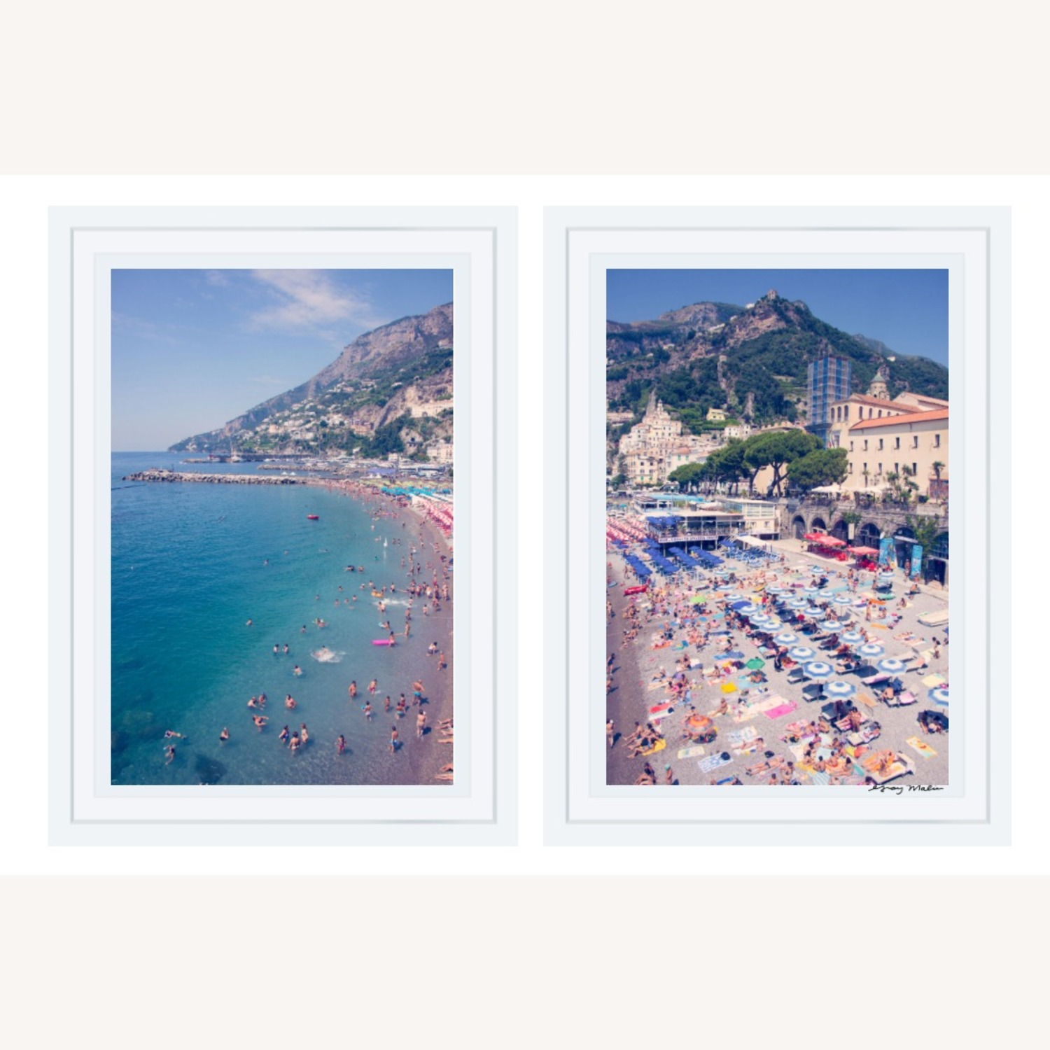 Authentic Gray Malin Positano Diptych Prints - image-1