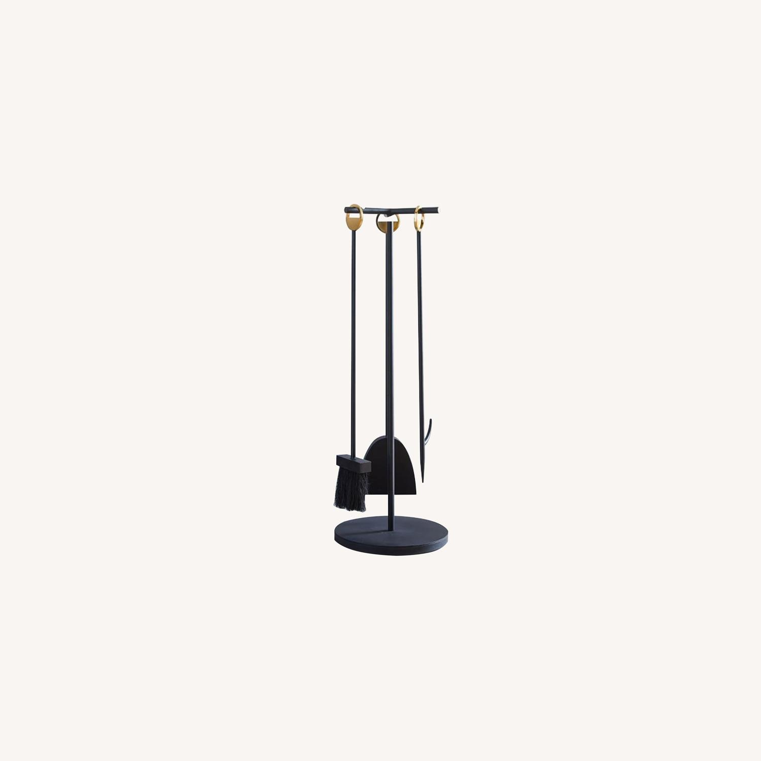 West Elm Cut Out Fireplace Tools - image-0