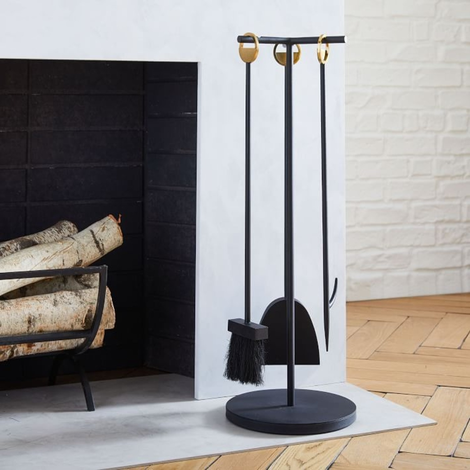 West Elm Cut Out Fireplace Tools - image-1