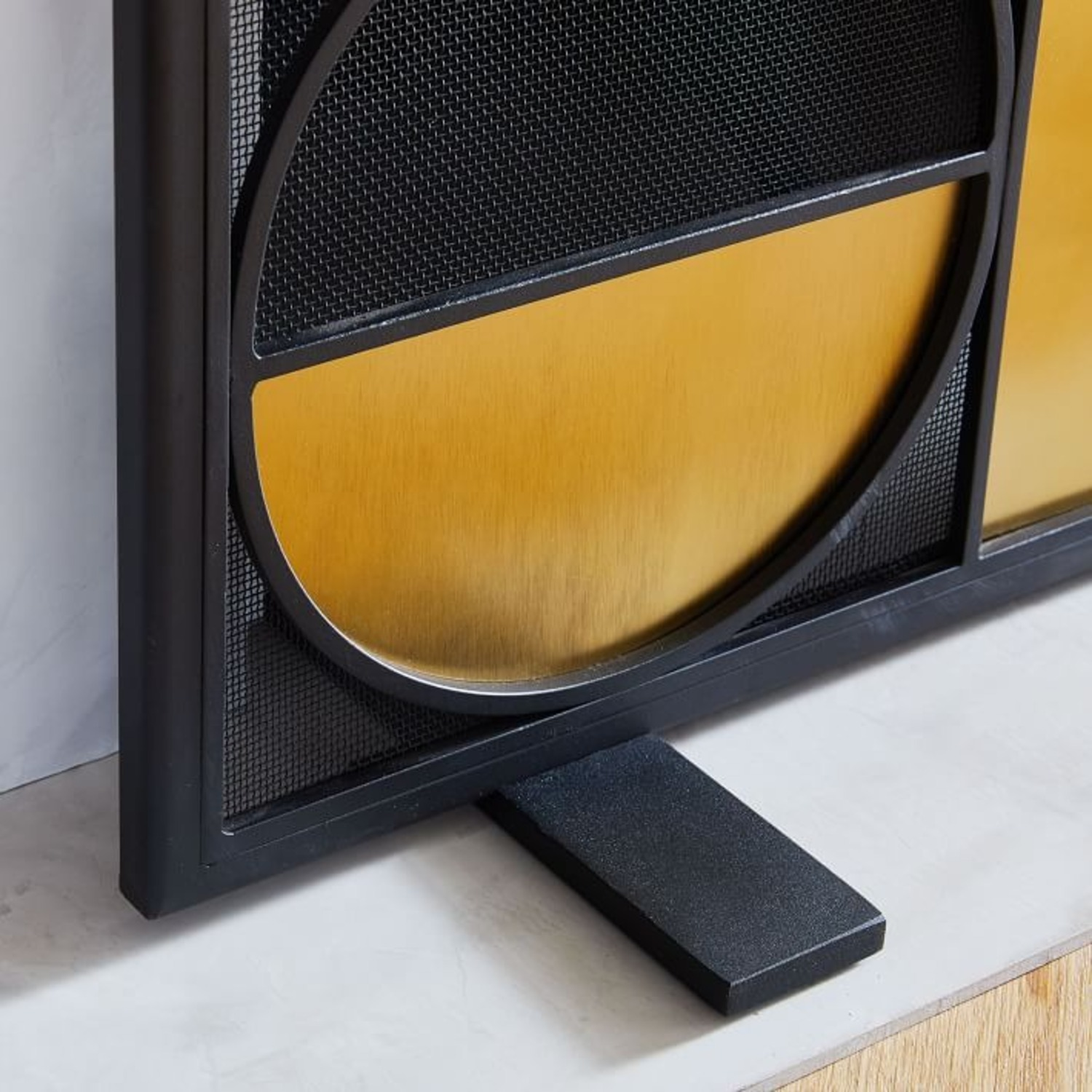 West Elm Cut Out Fireplace Tools - image-4