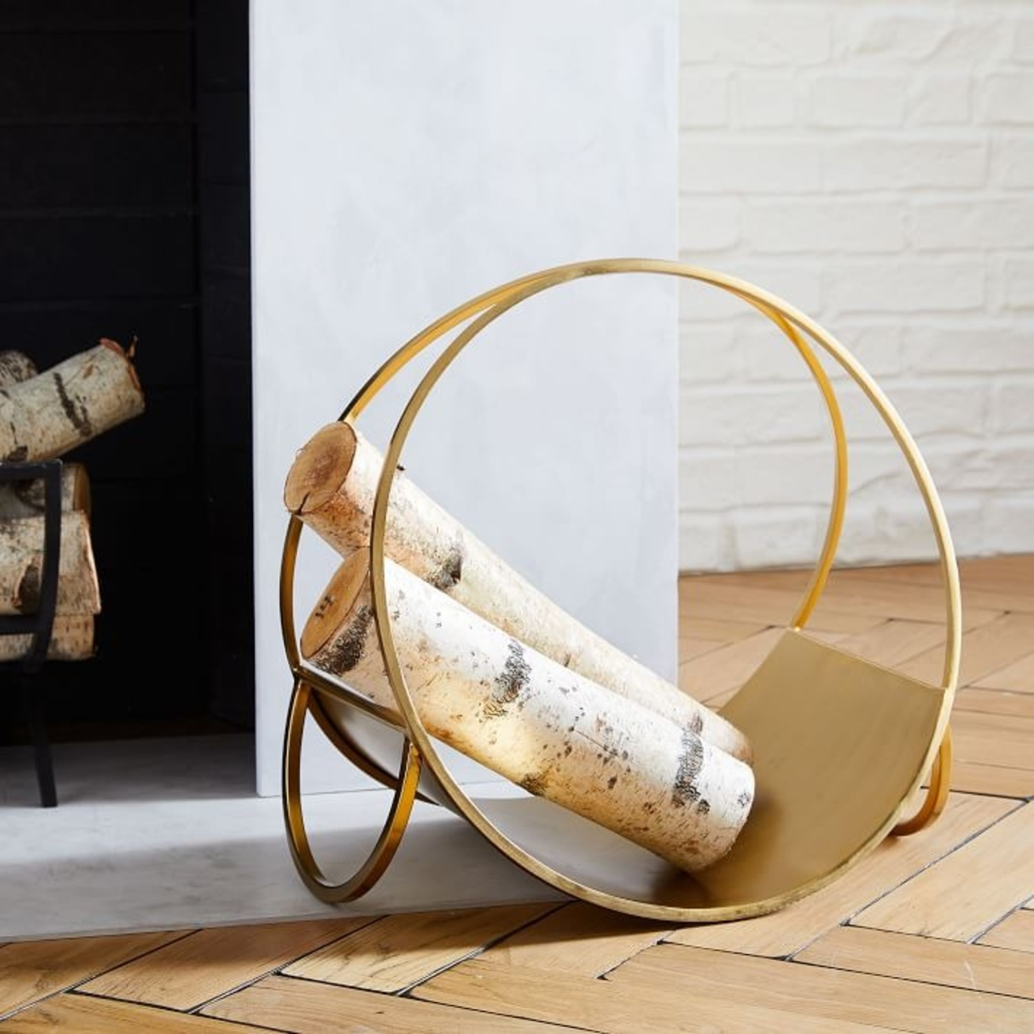 West Elm Cut Out Fireplace Tools - image-2