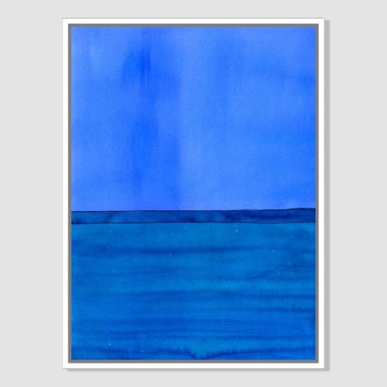 West Elm Roar + Rabbit Blue Framed Canvas - image-1