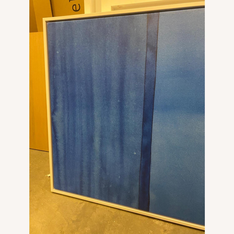 West Elm Roar + Rabbit Blue Framed Canvas - image-7