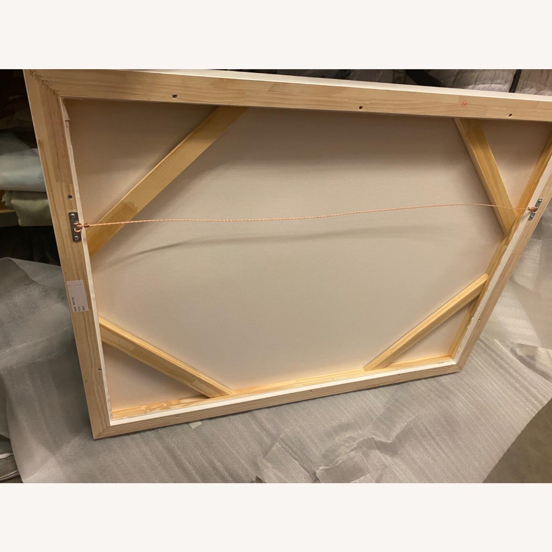 West Elm Roar + Rabbit Blue Framed Canvas - image-6