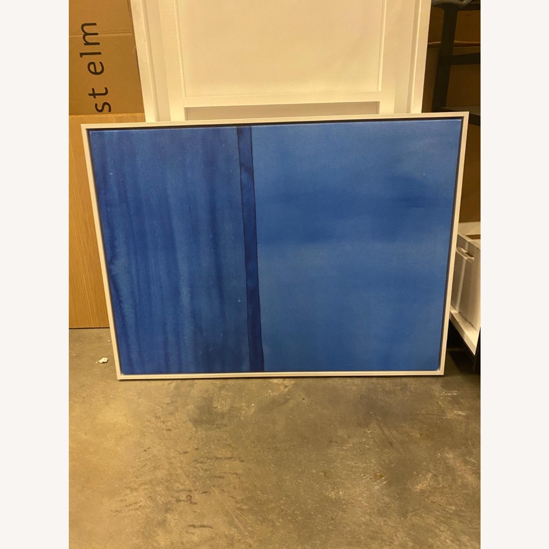West Elm Roar + Rabbit Blue Framed Canvas - image-3