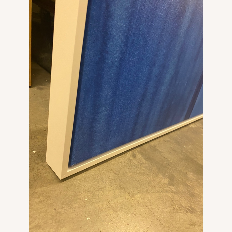West Elm Roar + Rabbit Blue Framed Canvas - image-5