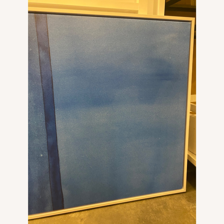 West Elm Roar + Rabbit Blue Framed Canvas - image-8