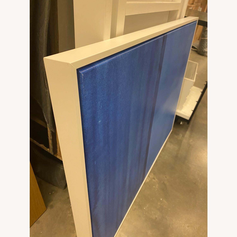 West Elm Roar + Rabbit Blue Framed Canvas - image-4