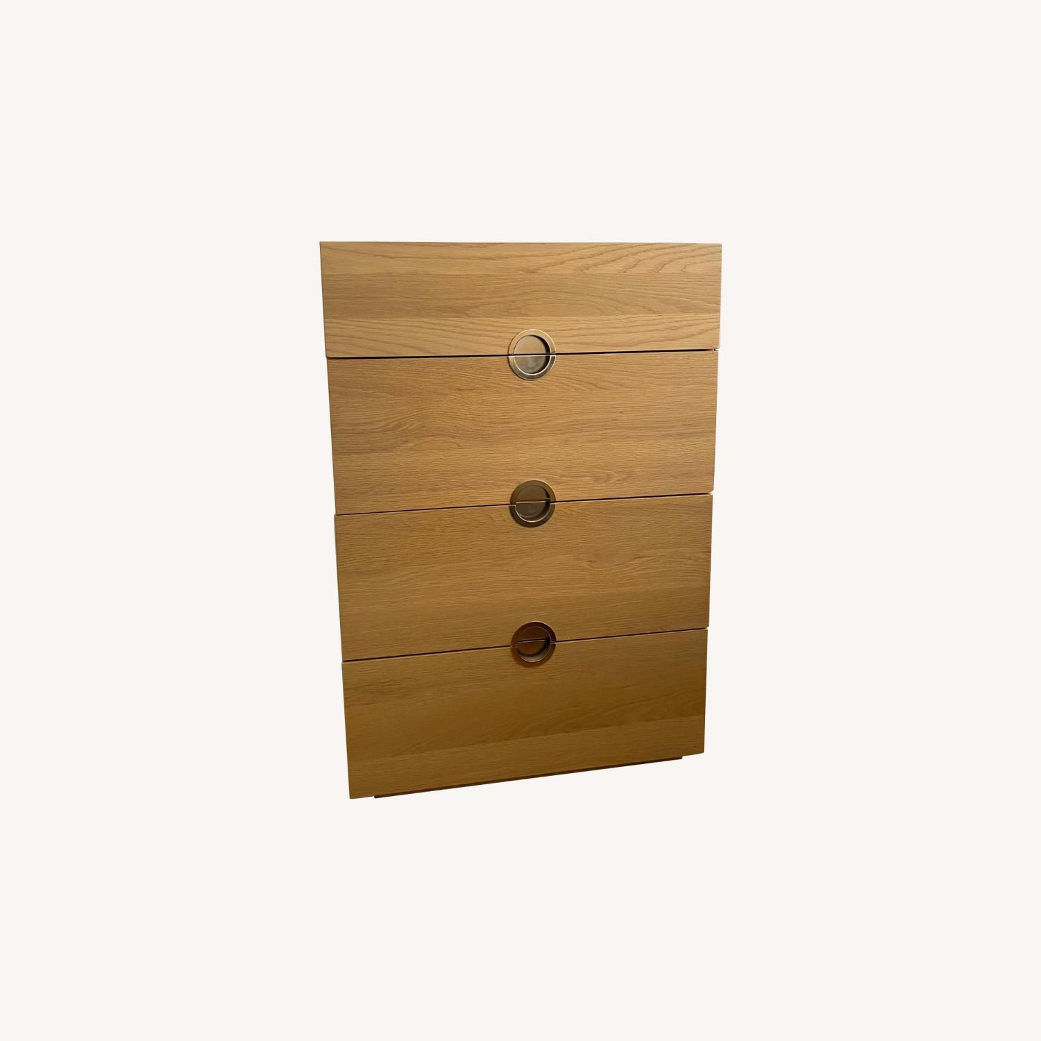CB2 Wood Dresser with Gold Accents - image-0