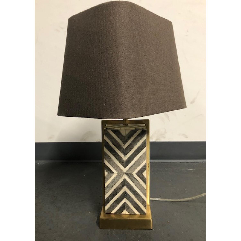 West Elm Marble Lamp - image-3