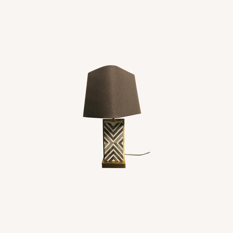 West Elm Marble Lamp - image-0