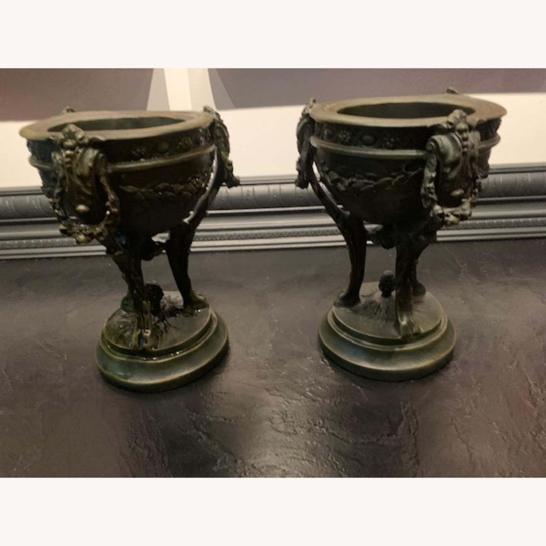 Matching Pair of Decorative Urns - image-1