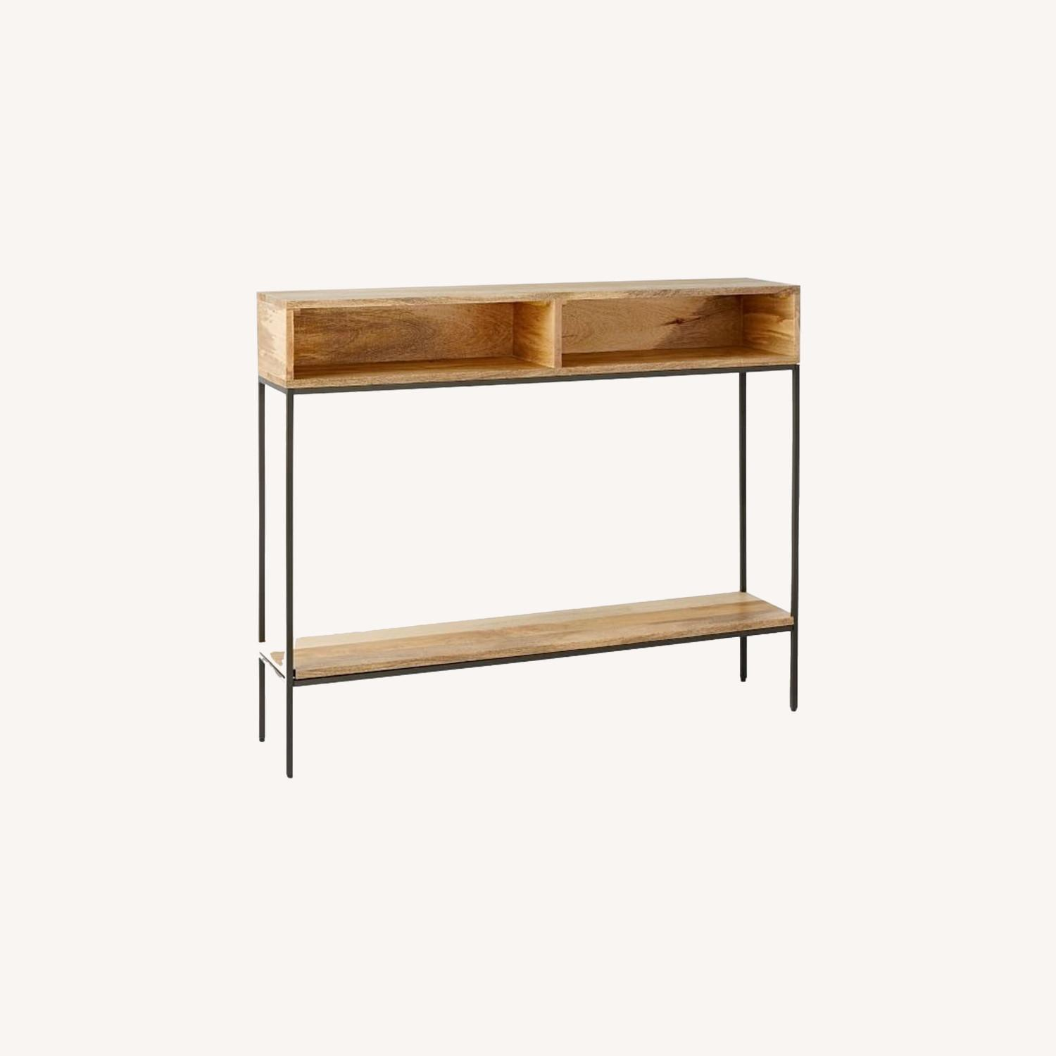 West Elm Industrial Storage Open Skinny Console - image-0