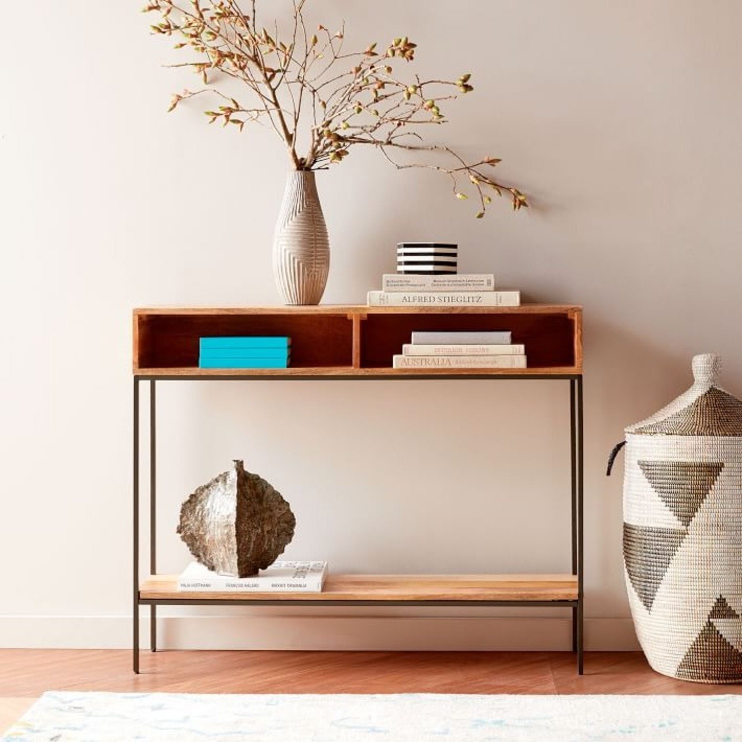 West Elm Industrial Storage Open Skinny Console - image-2