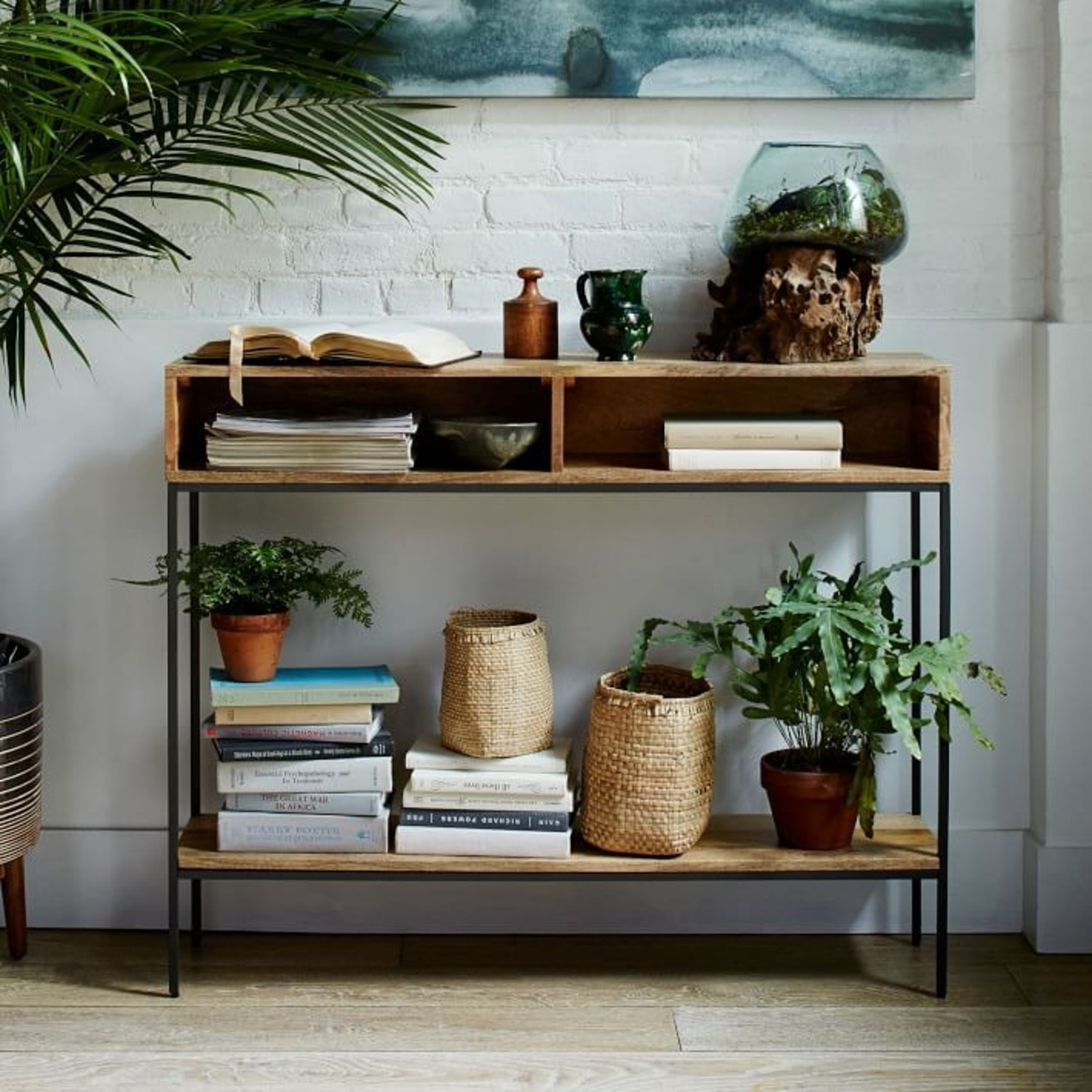 West Elm Industrial Storage Open Skinny Console - image-3
