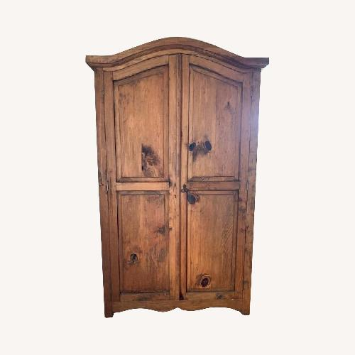 Used ABC Carpet & Home Pine Armoire for sale on AptDeco