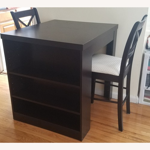 Used Counter Height Pub Table Set with Shelving for sale on AptDeco