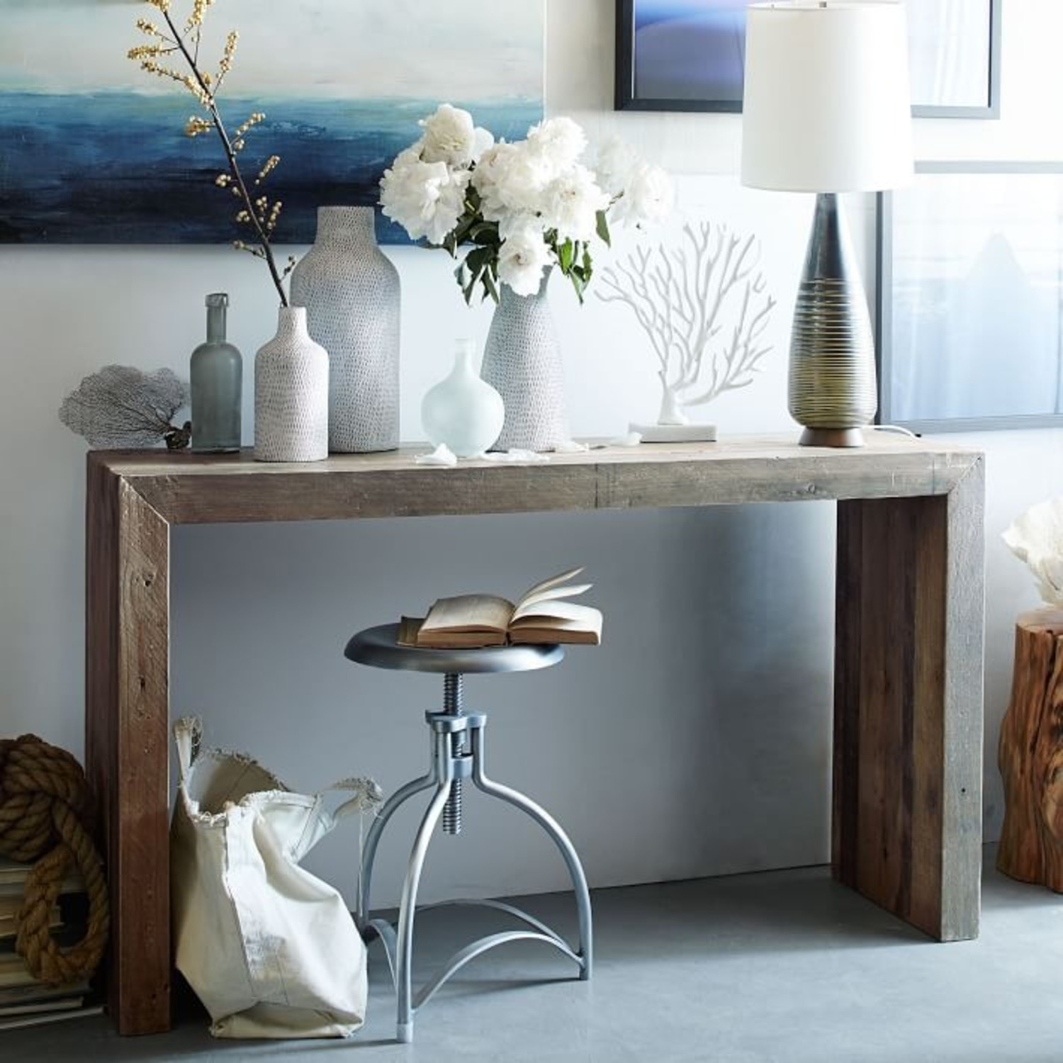 West Elm Emmerson Reclaimed Wood Console - image-3