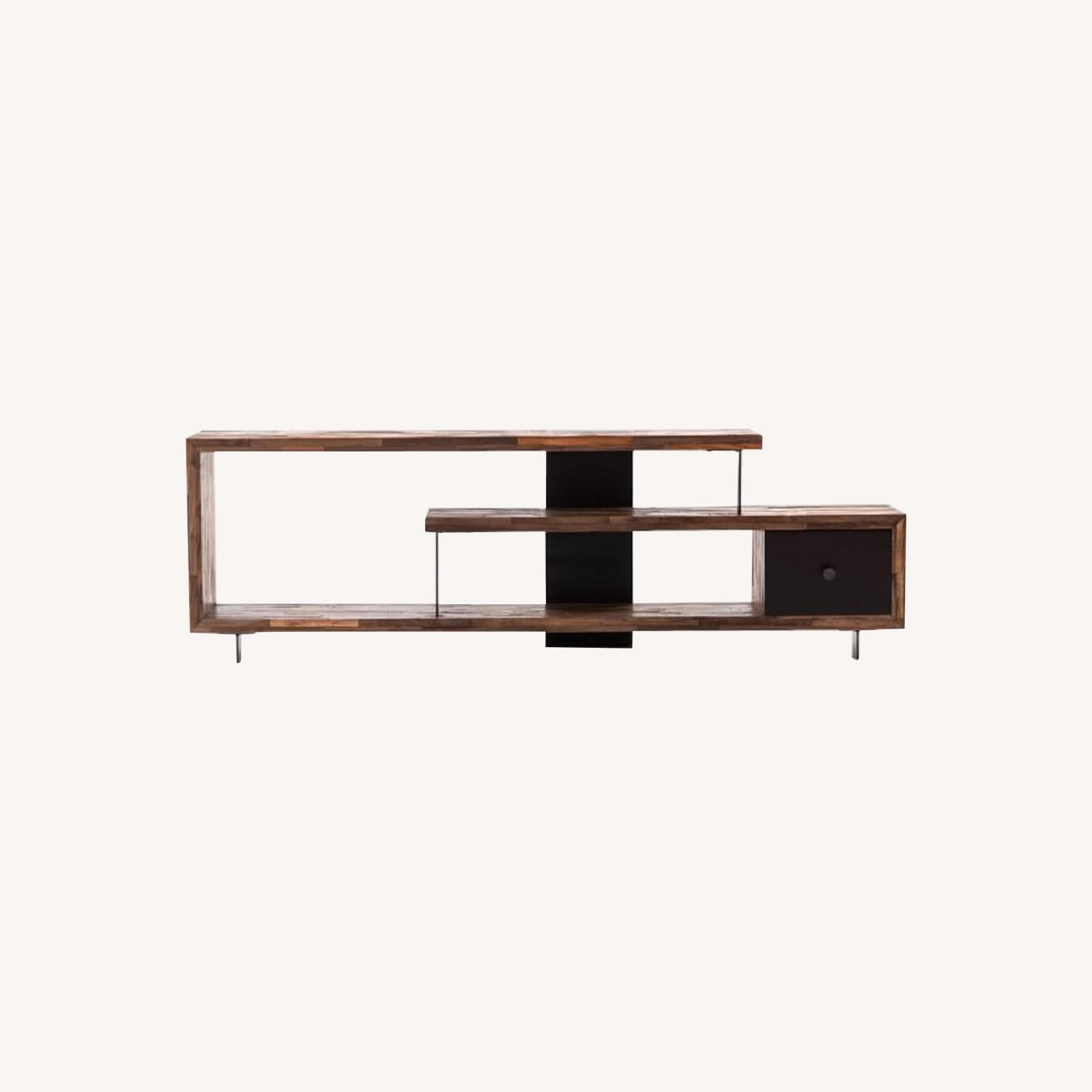 West Elm Staggered Wood Console - image-0