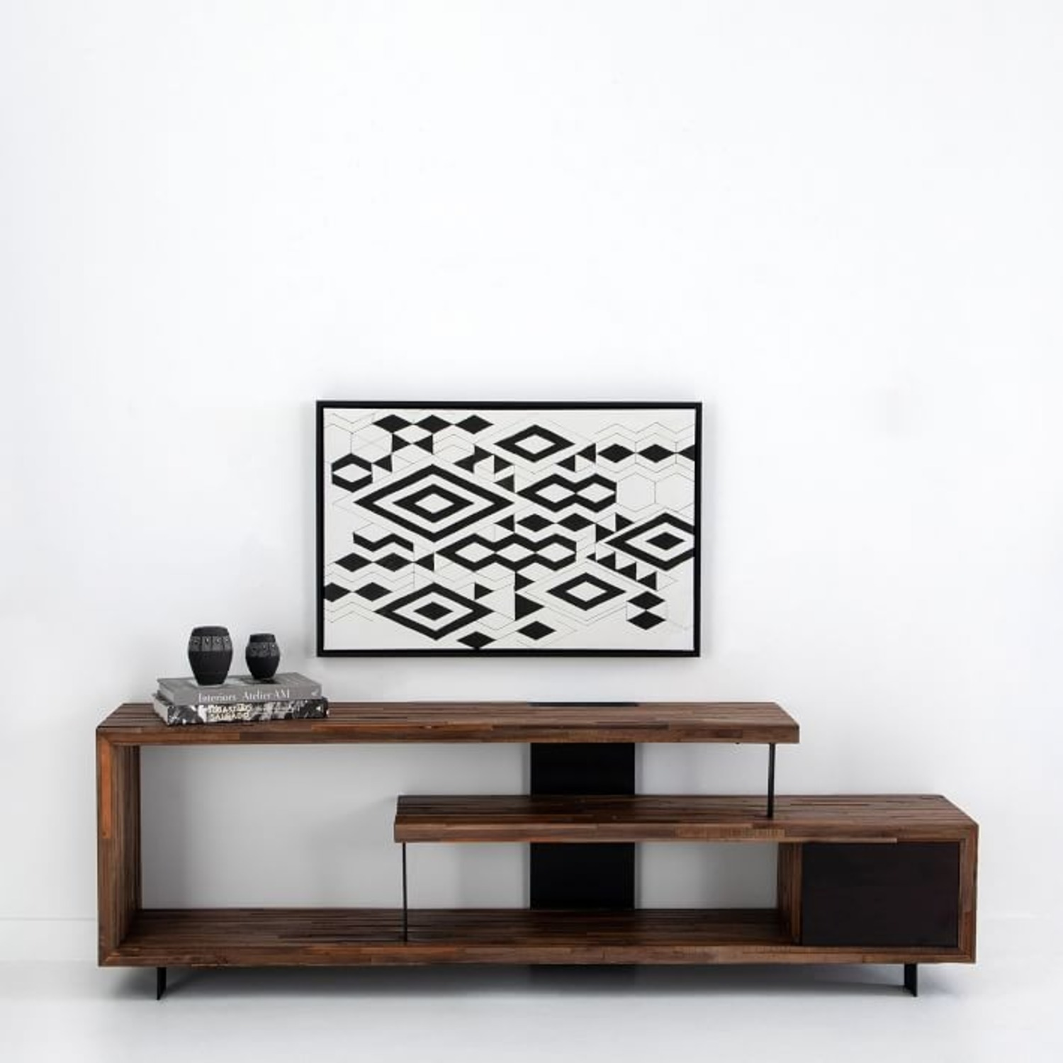 West Elm Staggered Wood Console - image-2
