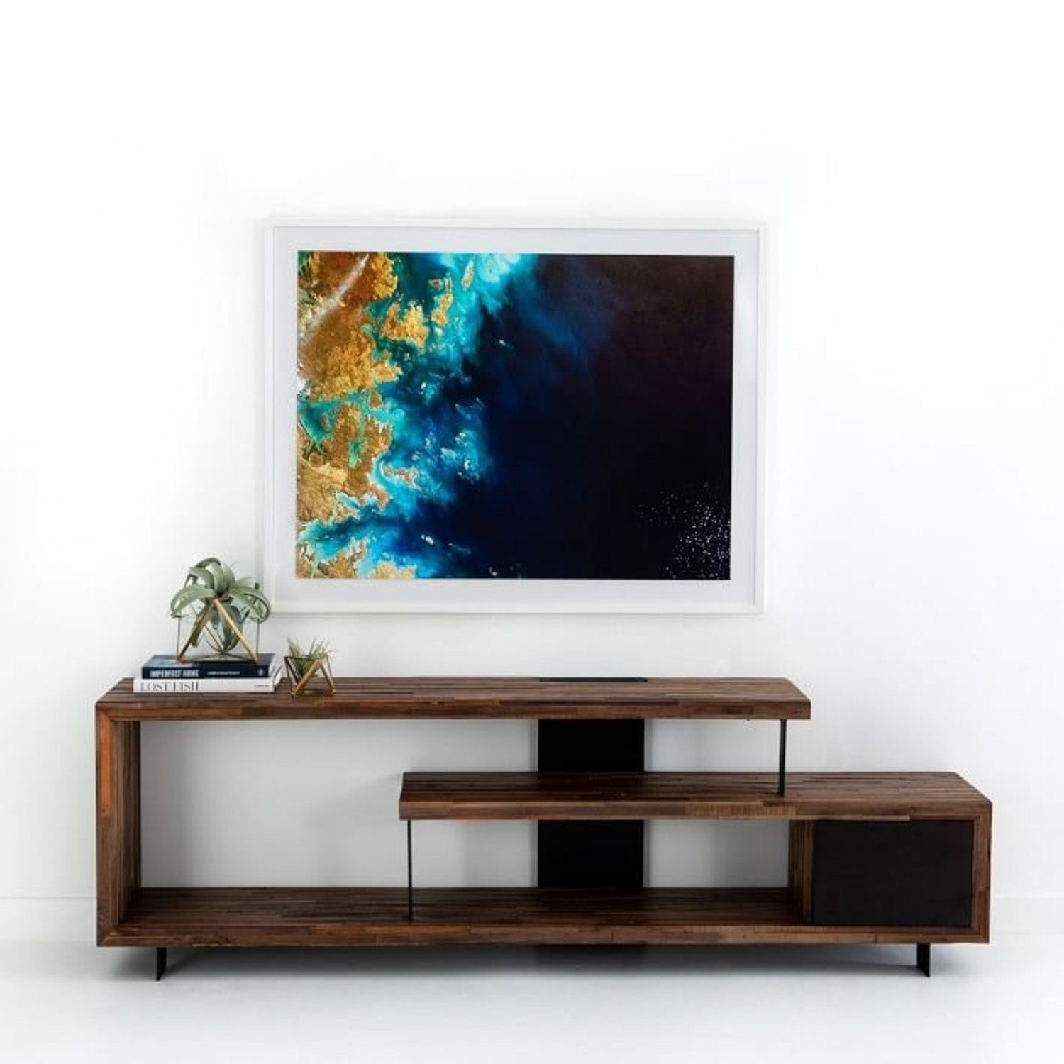 West Elm Staggered Wood Console - image-3