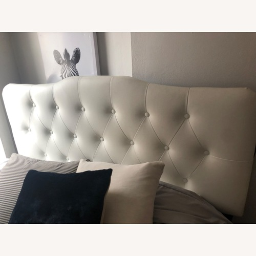 Used Modway White Tufted Headboard for sale on AptDeco