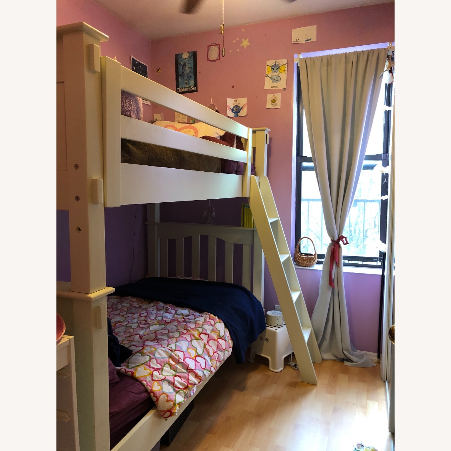 Pottery Barn Kendall Twin Over Bunk Bed - image-0