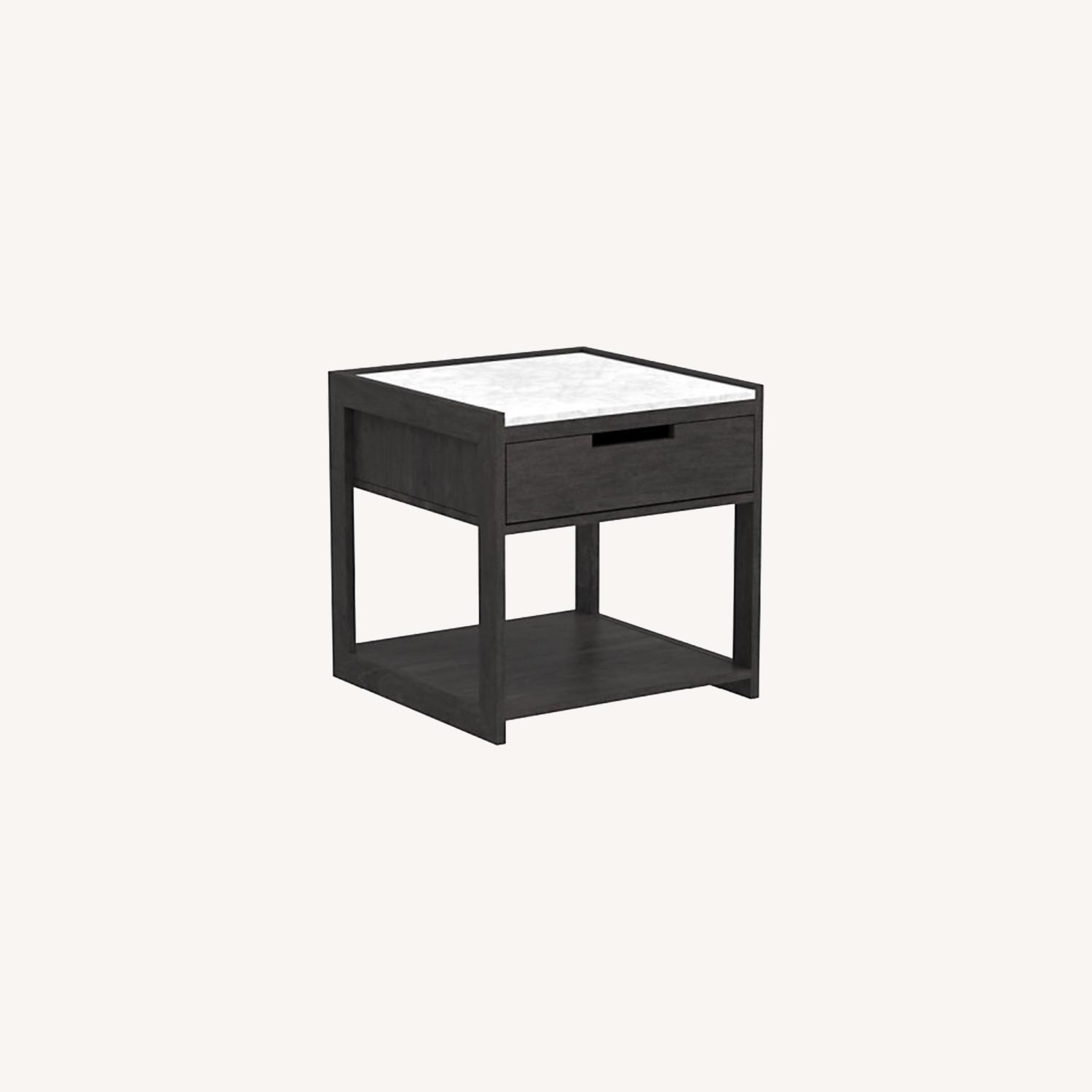 CB2 Tux Marble Top Nightstand - image-0