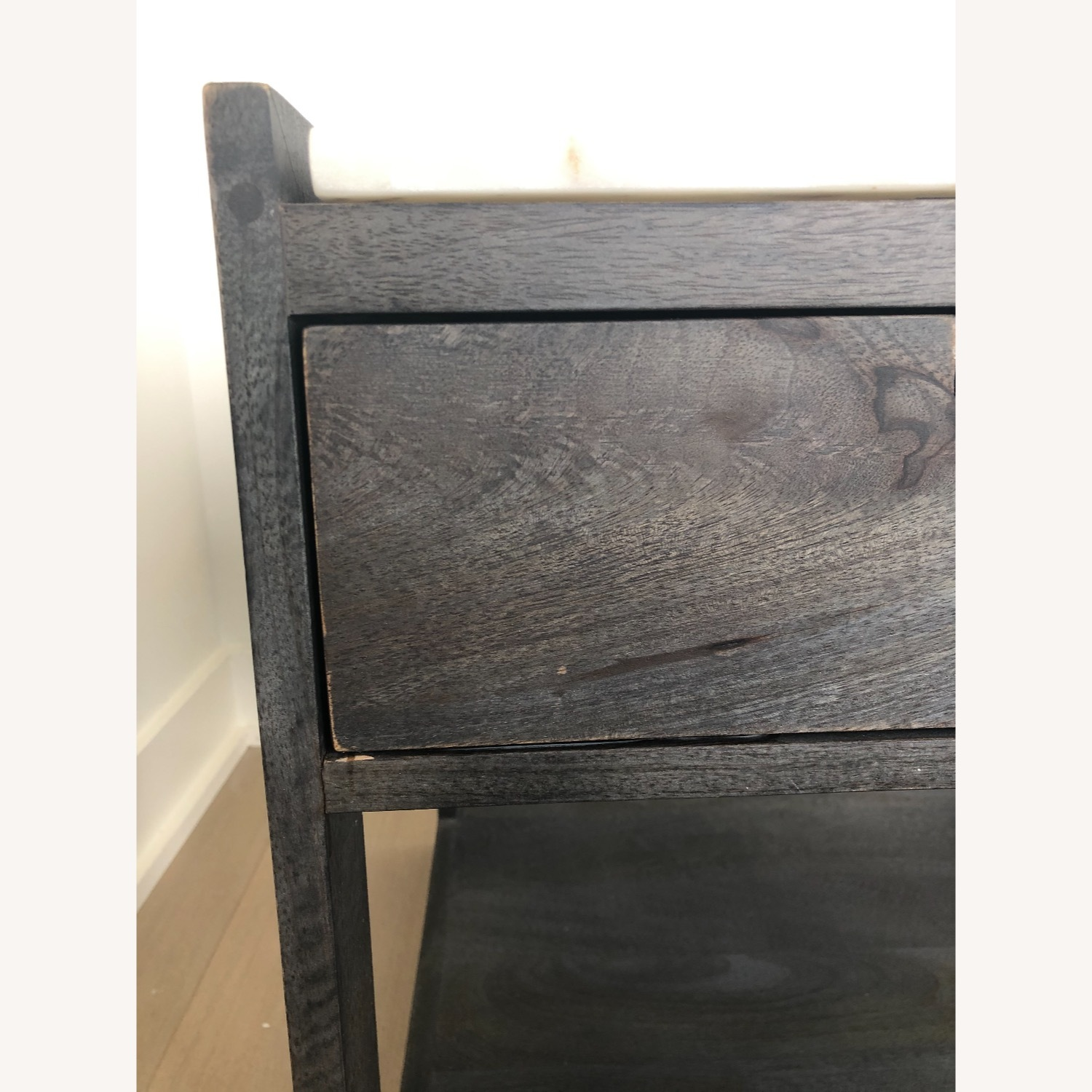 CB2 Tux Marble Top Nightstand - image-4