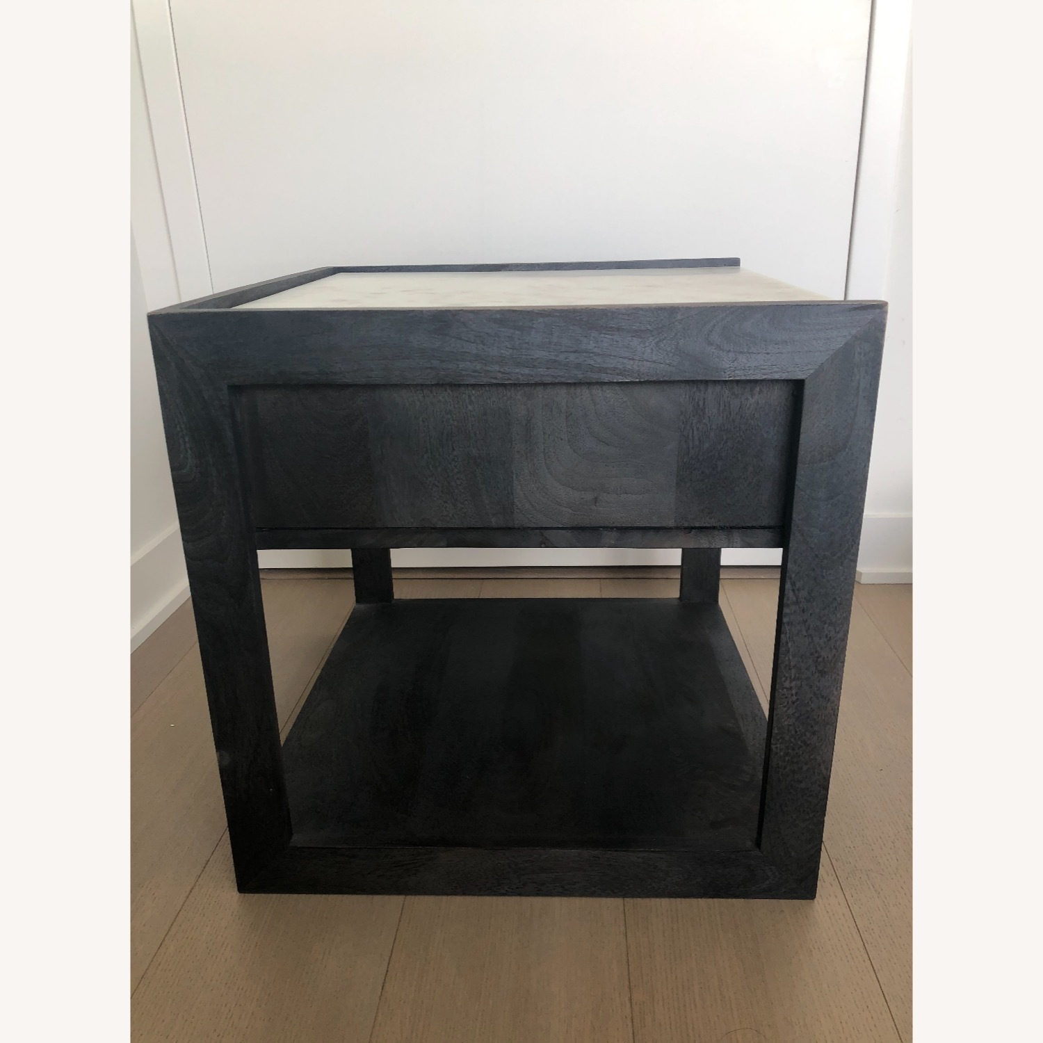 CB2 Tux Marble Top Nightstand - image-3