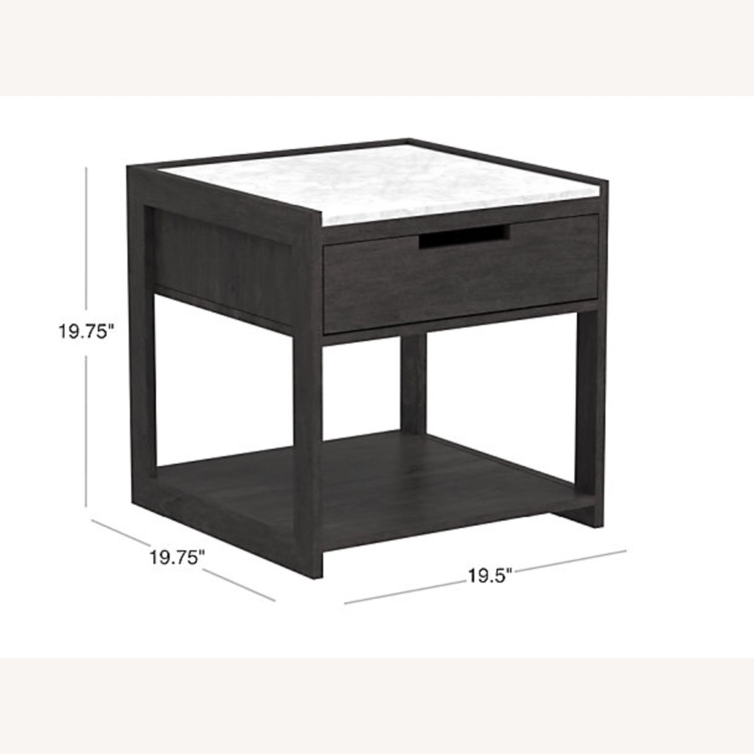 CB2 Tux Marble Top Nightstand - image-1