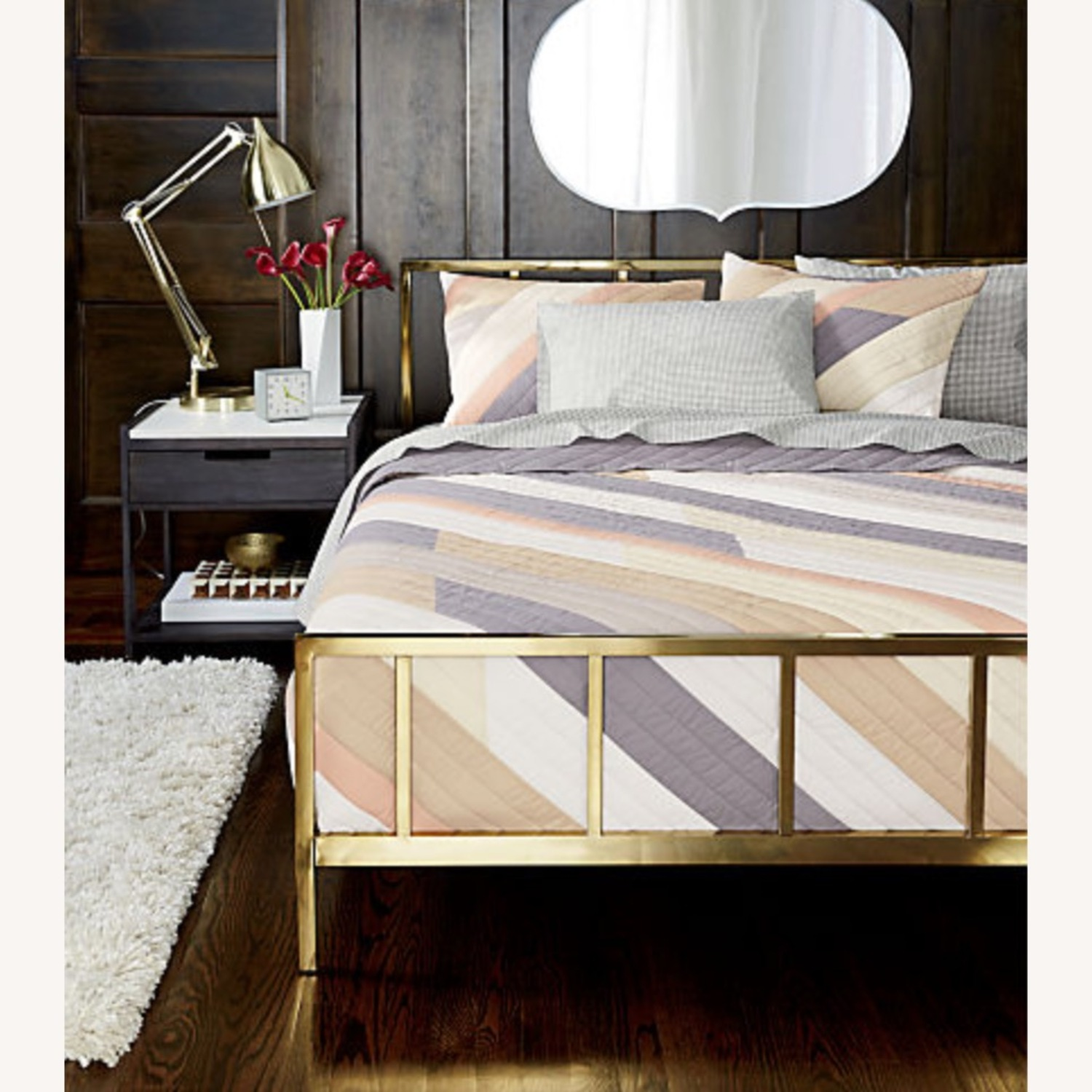 CB2 Tux Marble Top Nightstand - image-7