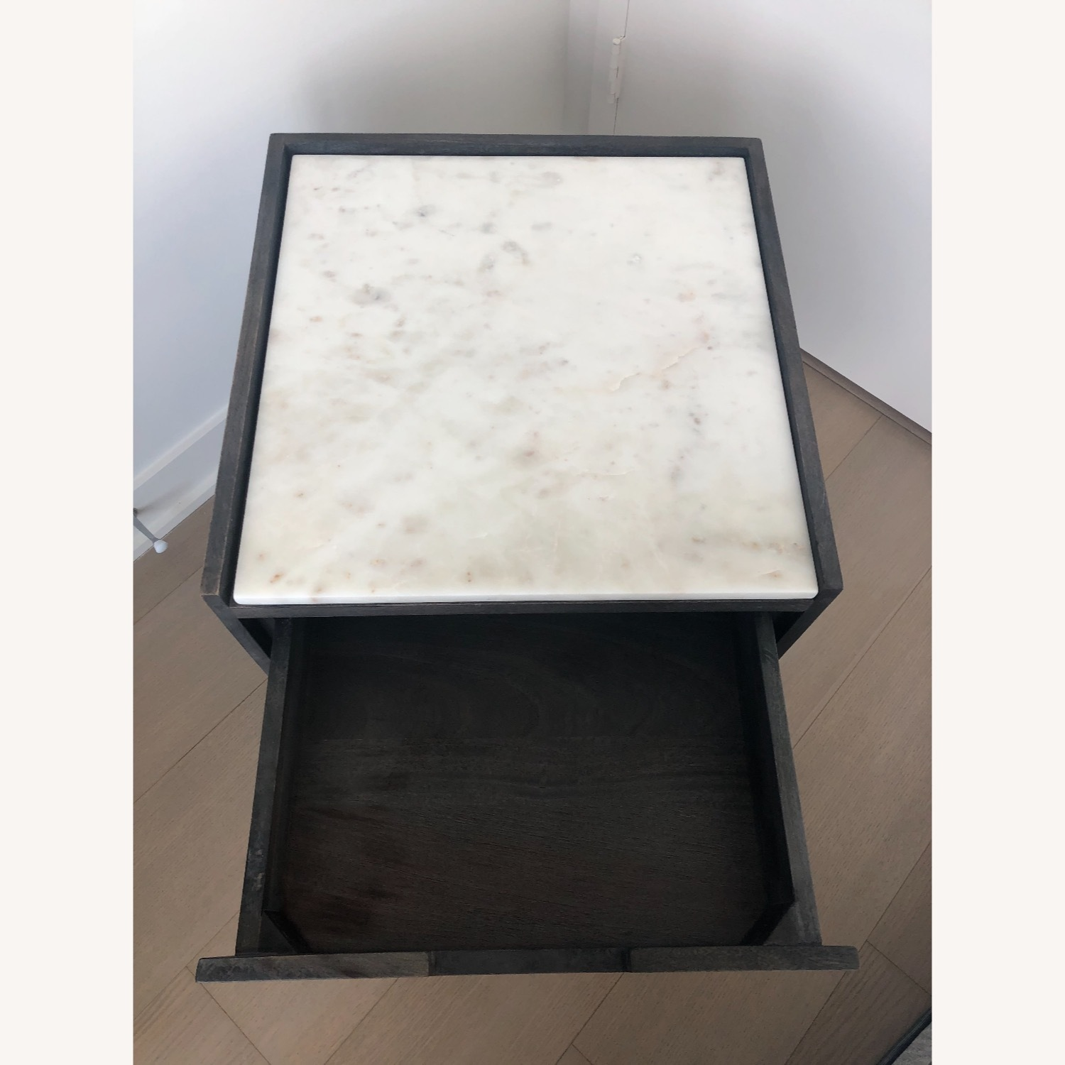 CB2 Tux Marble Top Nightstand - image-5