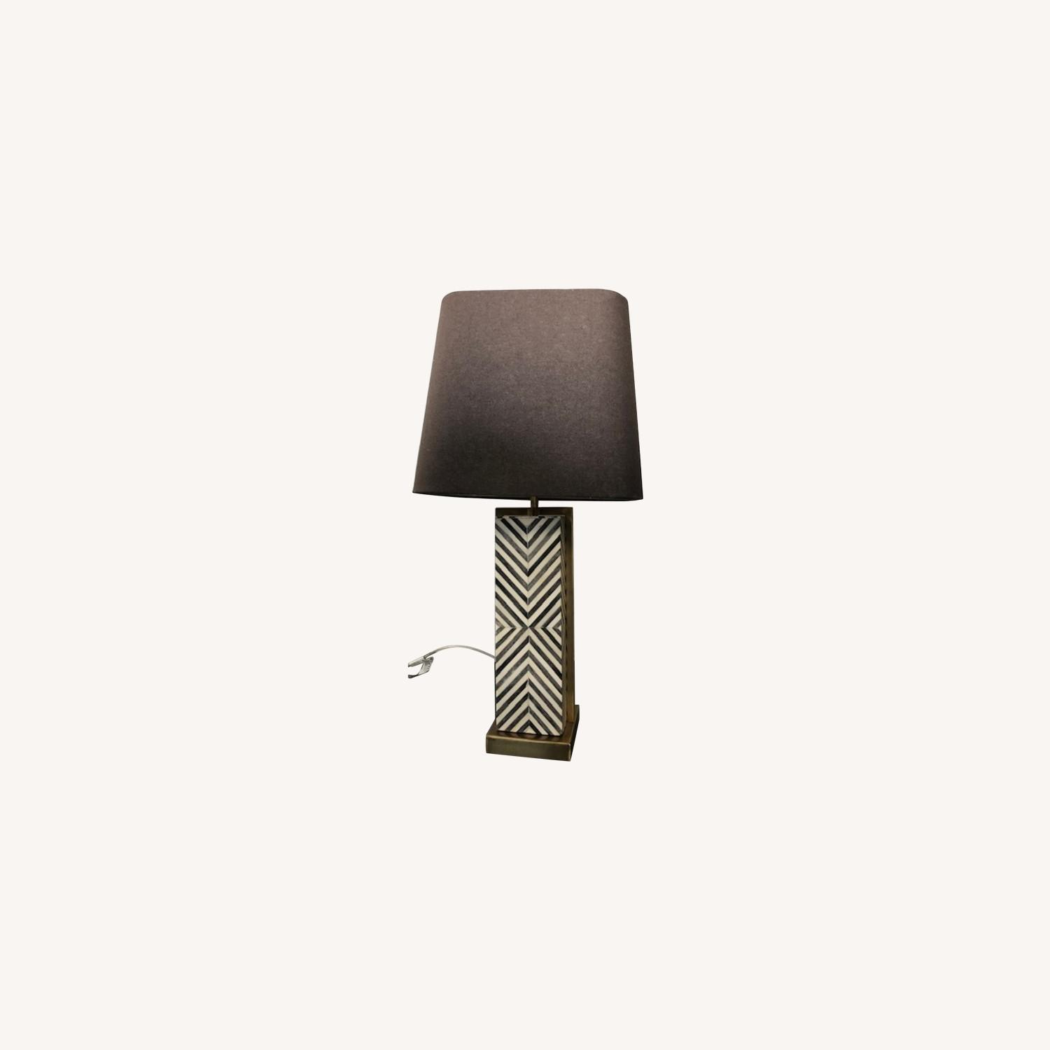 West Elm Tall Marble Table Lamp - image-0