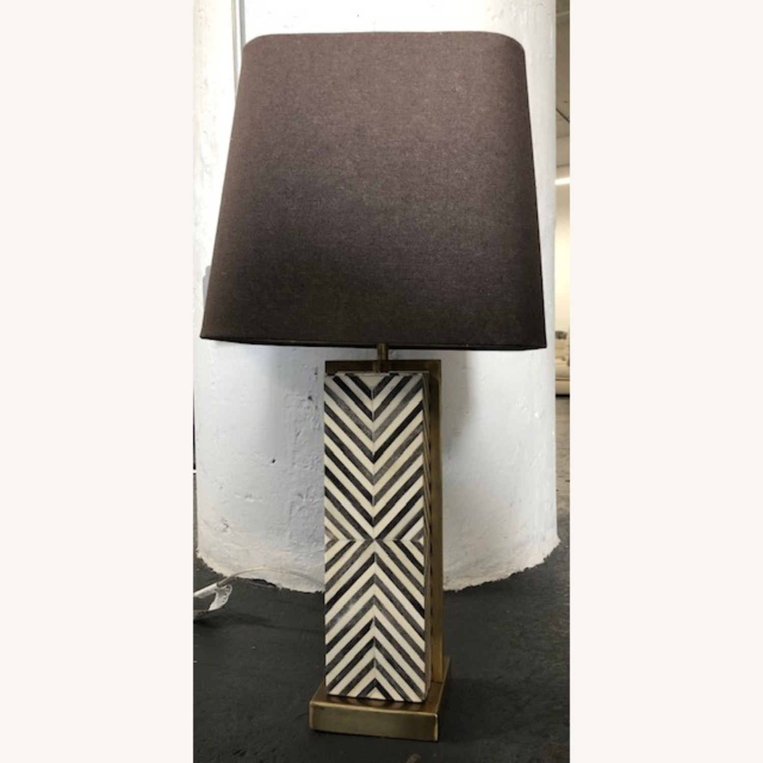 West Elm Tall Marble Table Lamp - image-1