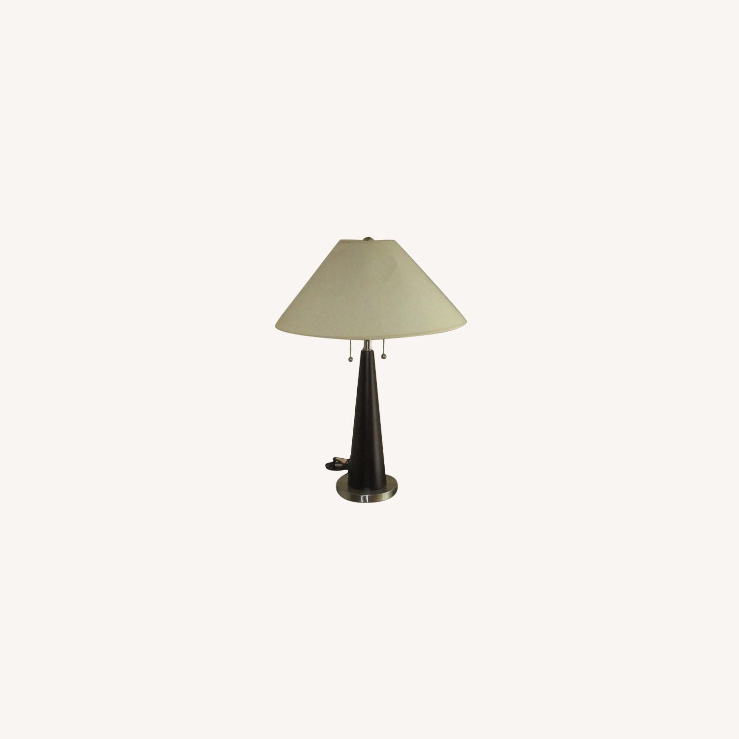 Identical Twin Side Table Lamps - image-0