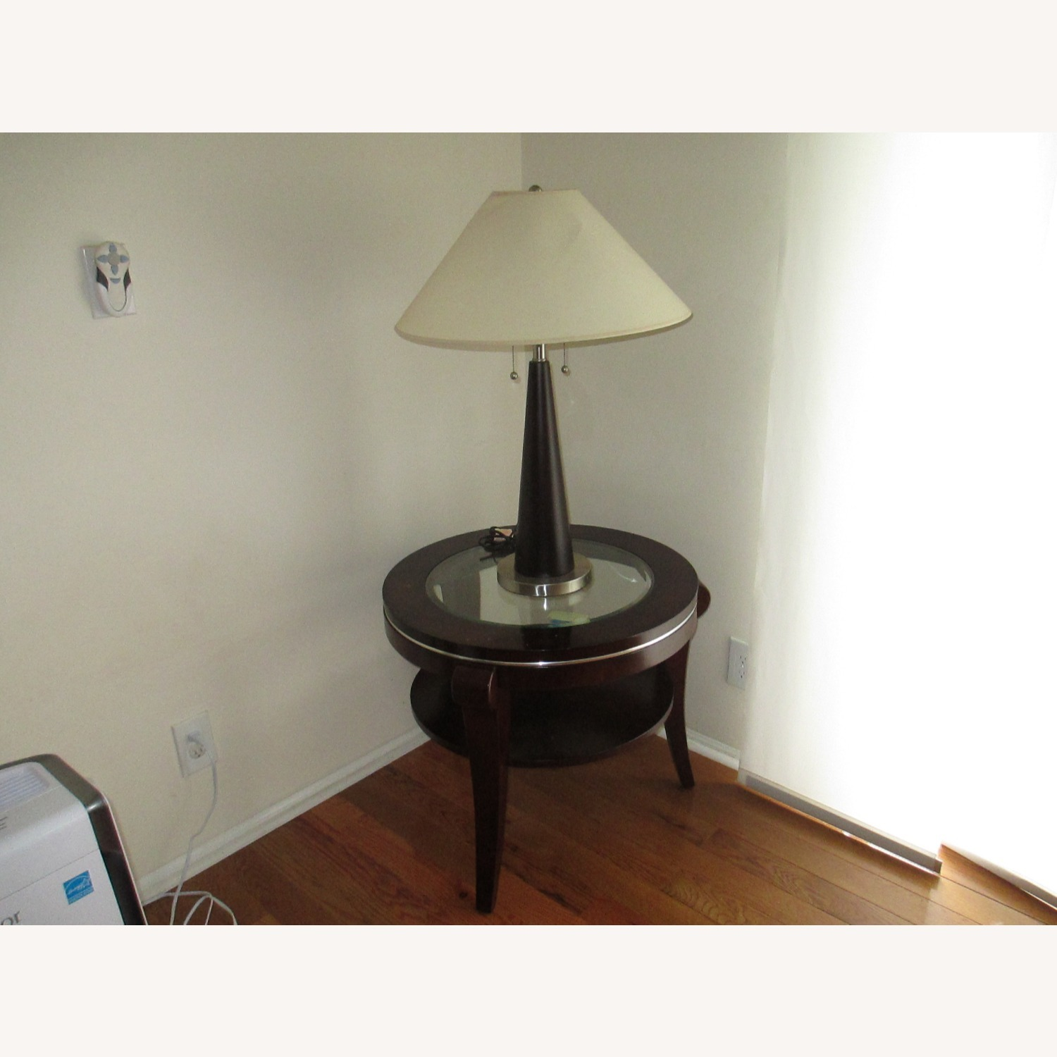 Identical Twin Side Table Lamps - image-1