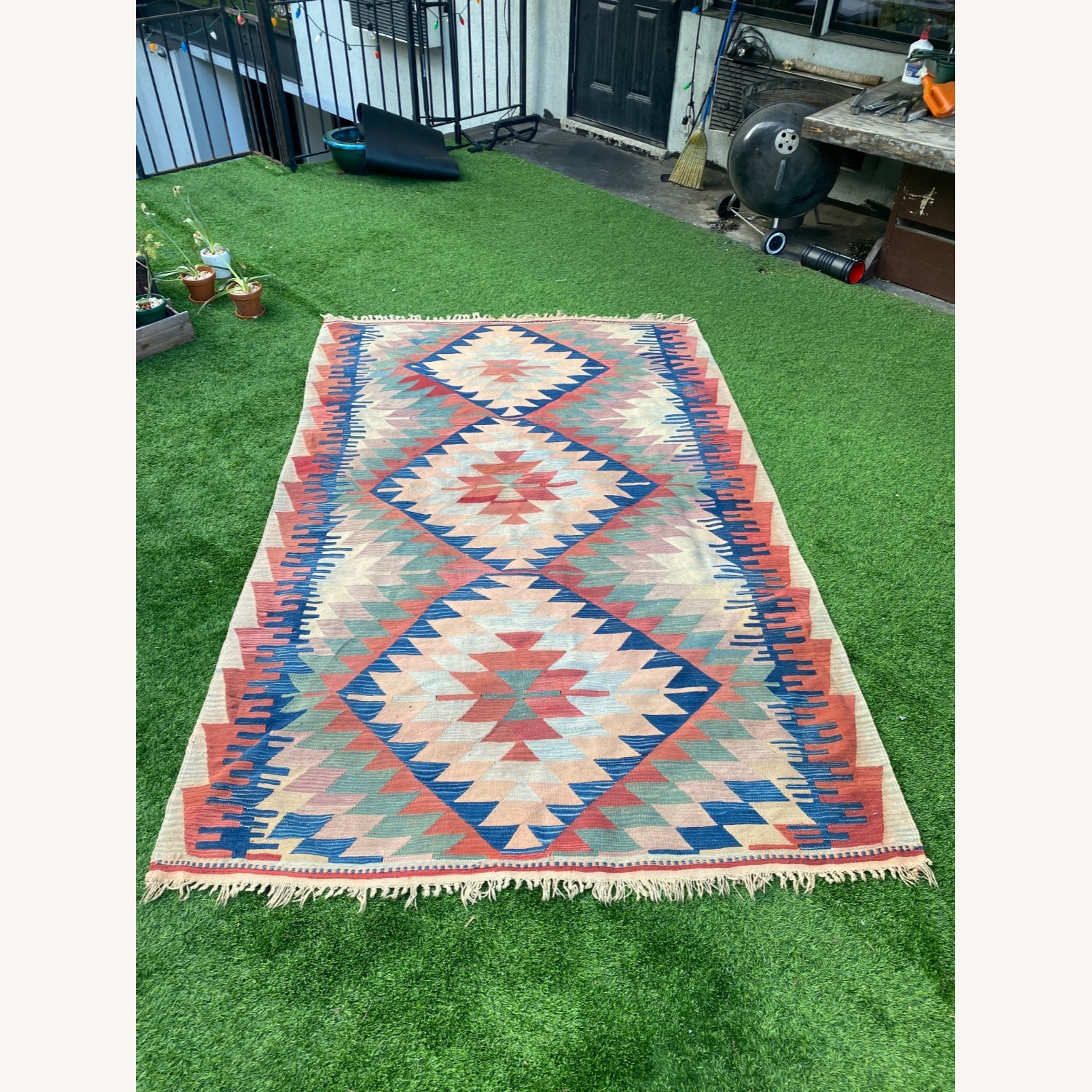 Vintage Turkish Area Rug - image-0
