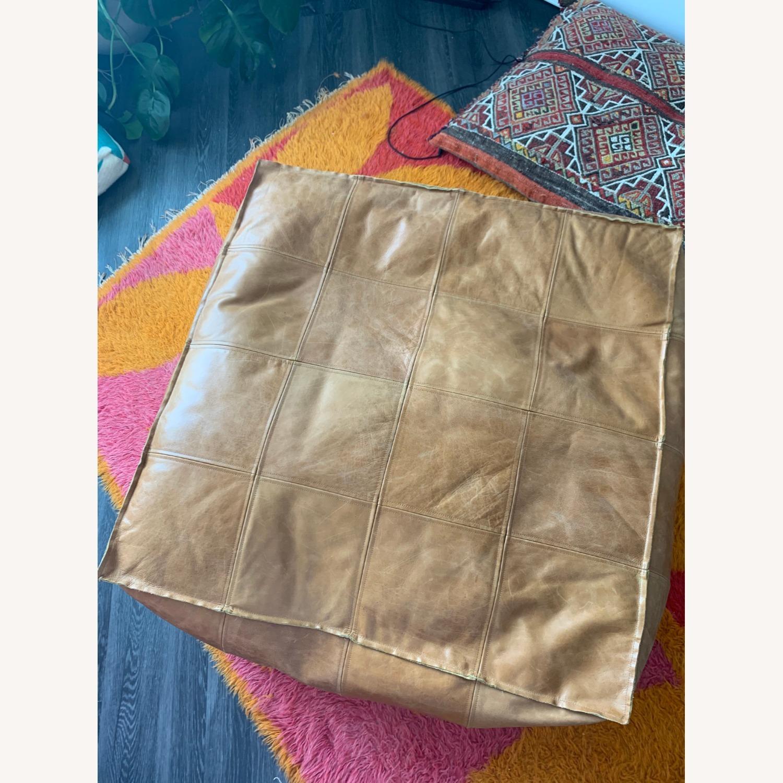 CB2 Large Leather Ottoman - image-2