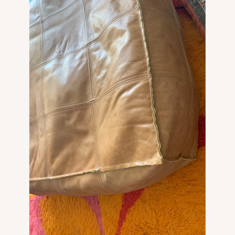 CB2 Large Leather Ottoman - image-3