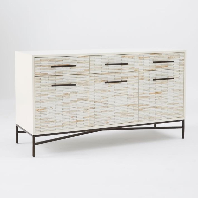 West Elm Wood Tiled Buffet - image-1