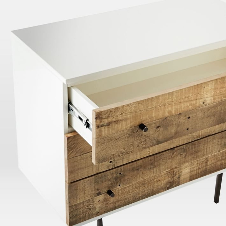 West Elm Reclaimed Wood + Lacquer 3 Drawer Dresser - image-3