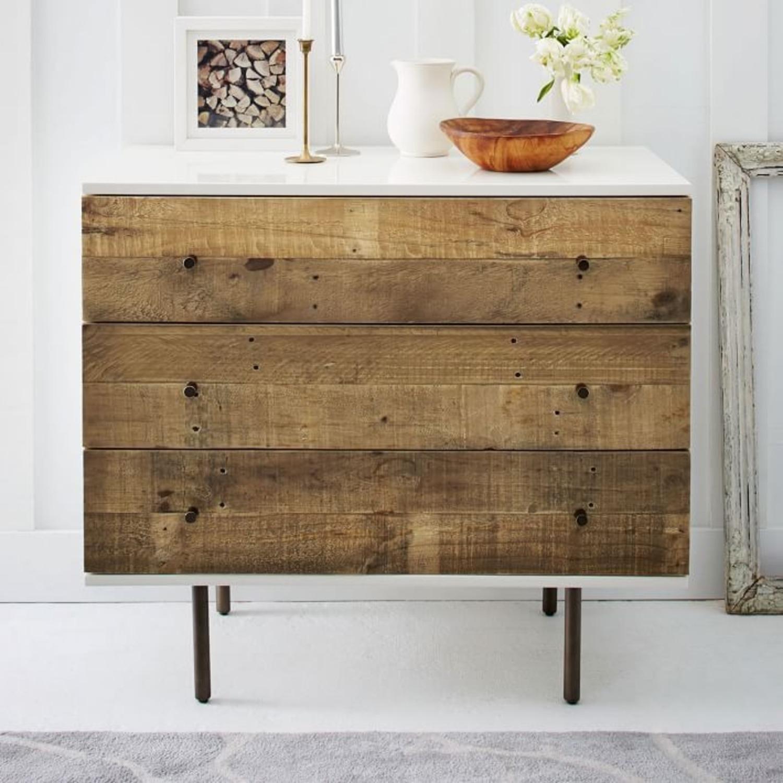West Elm Reclaimed Wood + Lacquer 3 Drawer Dresser - image-2