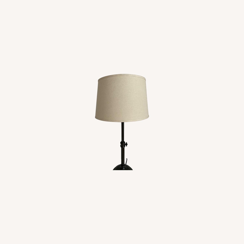 Pottery Barn Bronze Metal Table Lamp - image-0