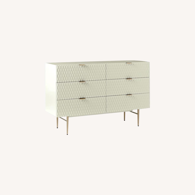 West Elm Audrey 6-Drawer Dresser, Parchment - image-0